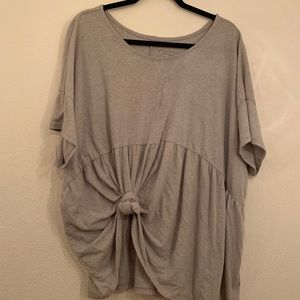 Anthropologie Grey Oversized Soft Tee